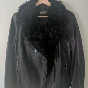 Badgley Mischka Black Genuine leather jacket
